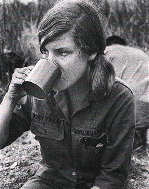 Female War correspondent in Vietnam
